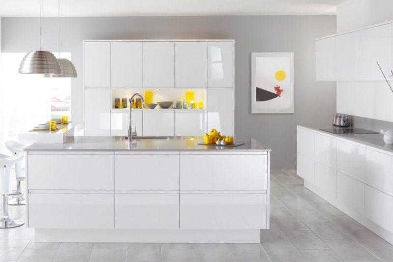 BMDirect Kitchen Cabinet Systems (White-Grey-Kitchen)